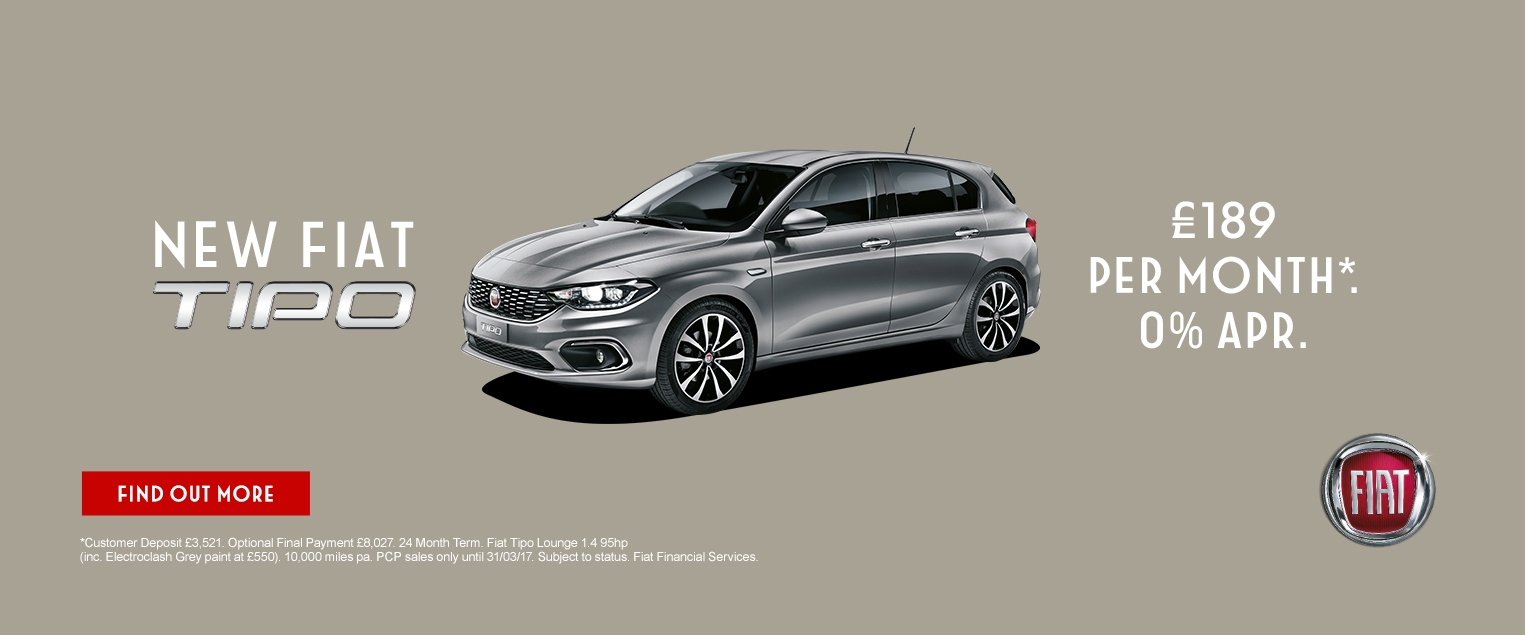 New Fiat Tipo Hatchback Hull East Yorkshire