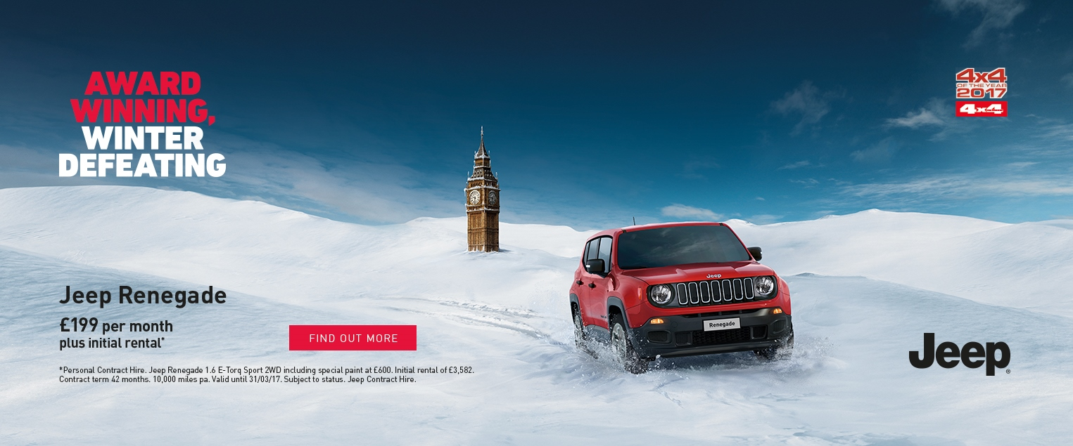 New Jeep Renegade Lease East Yorkshire Hull